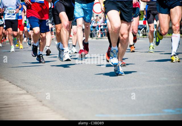 Marathon-Läufer-Beine Stockbild