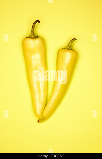 Banane Pfeffer Stockbild