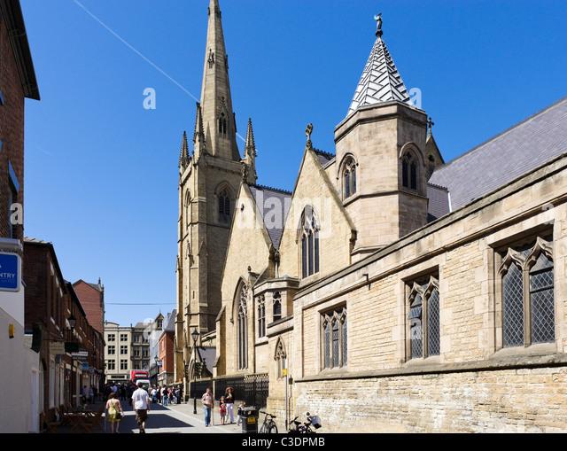Die Kathedrale Kirche von St. Marie (römisch-katholische Kathedrale), Sheffield, South Yorkshire, Großbritannien Stockbild