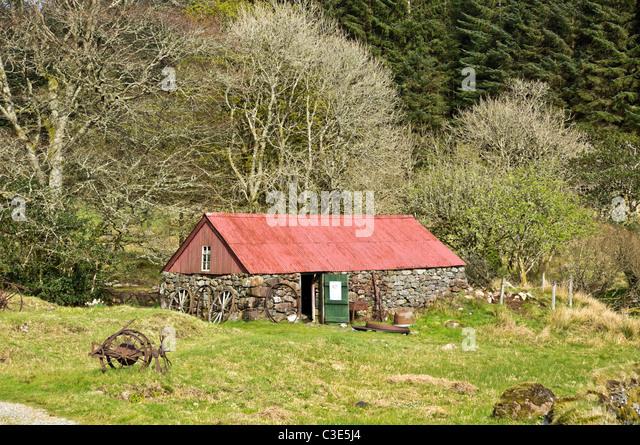 Das Bull-Haus am Auchindrain Township Open Air Museum in Argyll, Schottland Stockbild