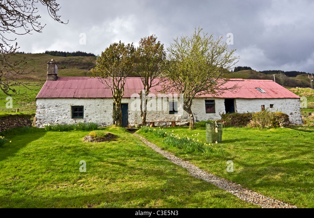 MacCallum Haus am Auchindrain Township Open Air Museum in Argyll, Schottland Stockbild