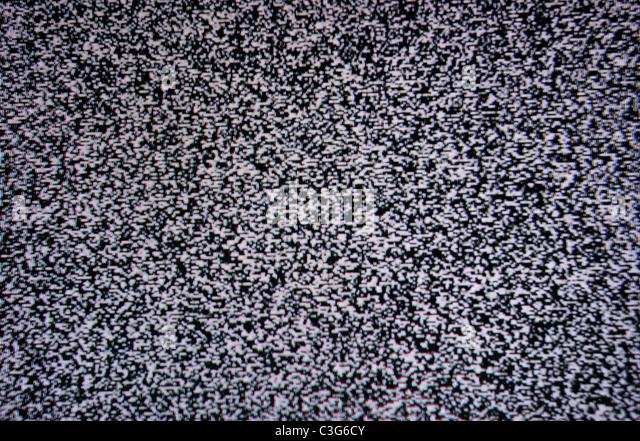schwarz / weiß TV Lärm Textur Muster Bildschirmhintergrund - Stock-Bilder
