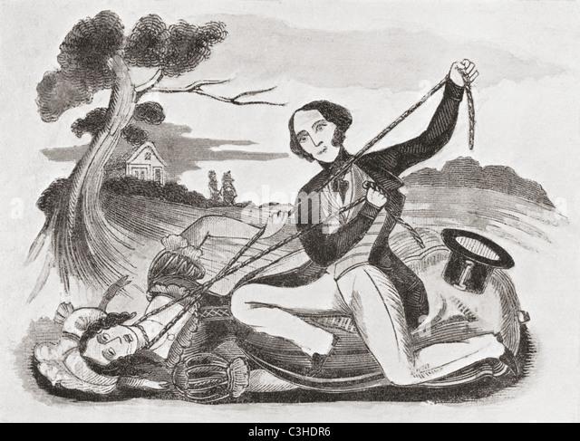 Anfang des 19. Jahrhunderts zur Veranschaulichung von Leonard W. Lillingstons Catnach Presse mit dem Titel The Ill Stockbild