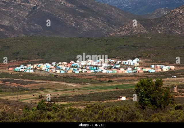 Südafrika, Western Cape, Barrydale, Township. Stockbild