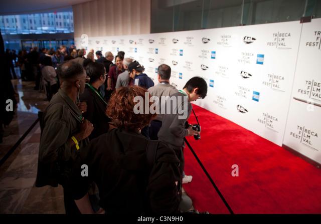 NYC, APRIL 20 - Premiere des Tribeca Film Festival in New York City, 20.04.2011 Stockbild