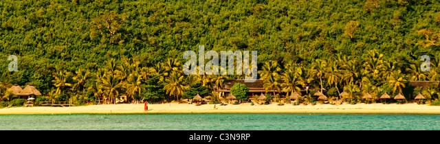 Abgelegene Inselresort unter der Yasawa Inseln, Fiji, Südsee Stockbild