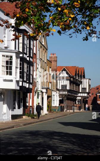 Southampton - Bugle Straße wo das Tudor House Museum gefunden werden kann Stockbild