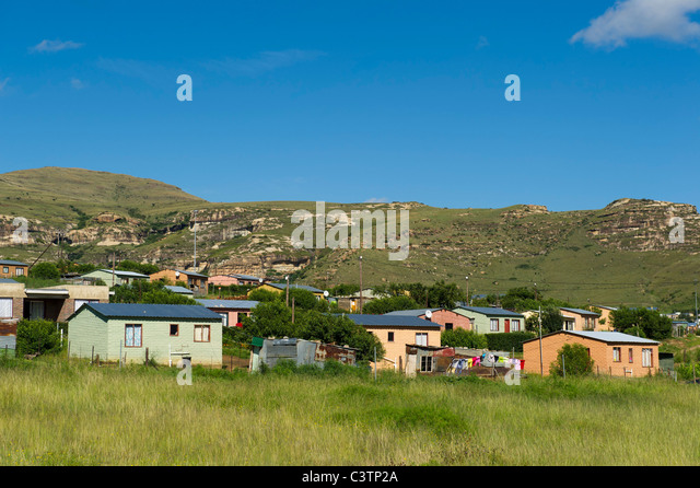 Gemeinde außerhalb Clarens, Freistaat, Südafrika Stockbild