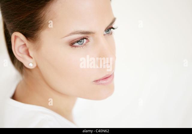 Gesicht, jung, Frau, Vitalität, frische, Schmink, Modell, Erwachsener, Frau, Kopf, Schönheit, 20-25 Jahre, Stockbild