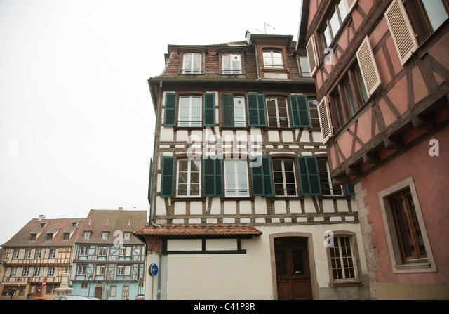 Frankreich, Colmar, Fachwerkbauten Stockbild