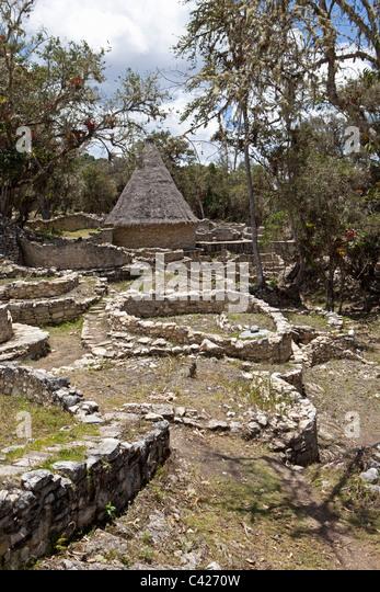Chachapoyas, Peru Kuelap Siedlungs- und Zitadelle Bergstadt, von der Chachapoyas Kultur (900-1200 n. Chr.) gebaut. Stockbild