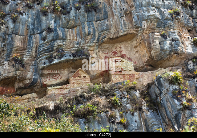 Peru, Santo Thomas Gäbern Grabanlage. Vermutlich im 14. Jahrhundert. Stockbild