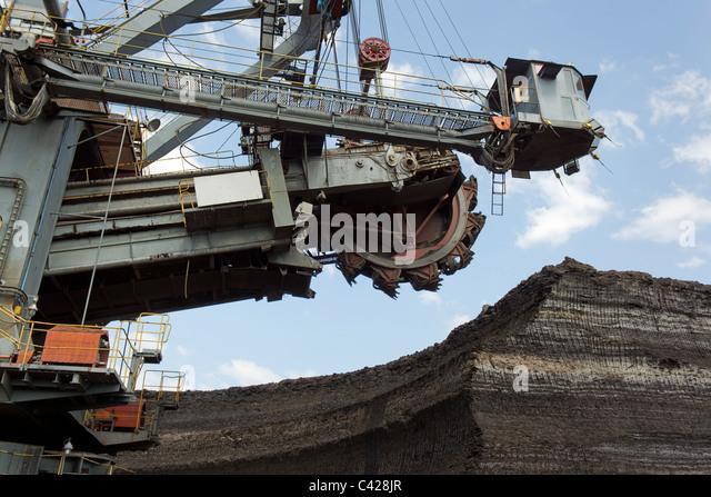 Kohle-Bergbau Stockbild