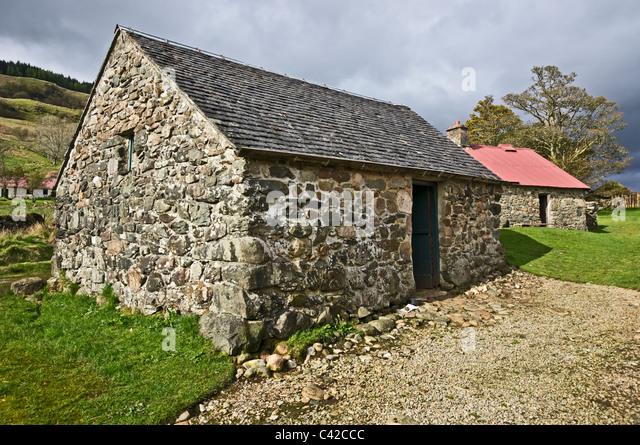 Stall von Auchindrain Township Freilichtmuseum in Argyll, Schottland Stockbild