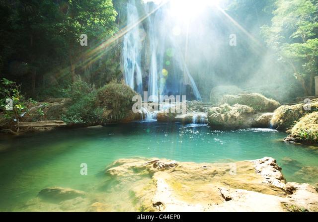 Wasserfall in Myanmar Stockbild
