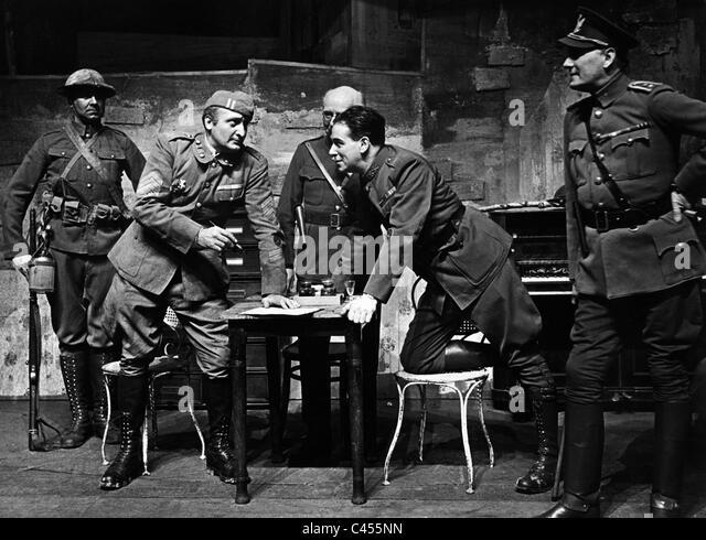 """Hans Albers und Leopold Berti in dem Stück """"Rivalen"""" Anderson und Stalling, Berlin 1934 Stockbild"""