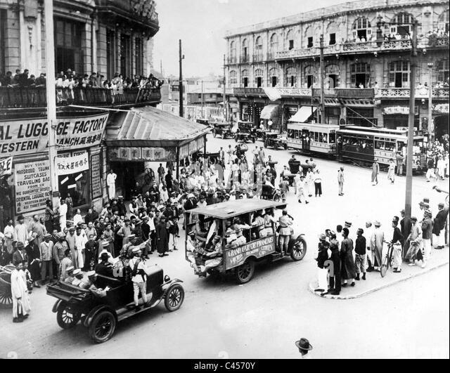 In den frühen 30er Jahren Shanghai Stockbild