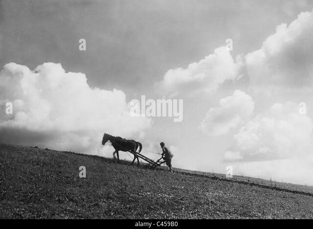 "Szene des Films ""Sterben Generallinie"", 1929 Stockbild"