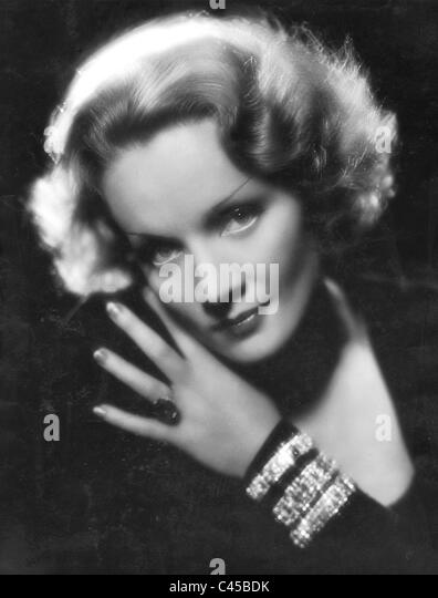 Marlene Dietrich in den 30er Jahren Stockbild