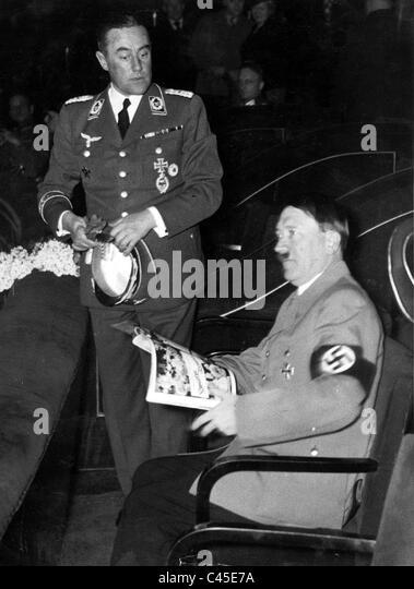 Adolf Hitler Theater/Film Stockbild