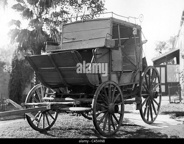 Australische Postkutsche, 19. Jahrhundert Stockbild