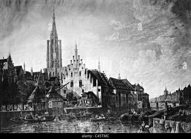 Straßburg im 19. Jahrhundert Stockbild