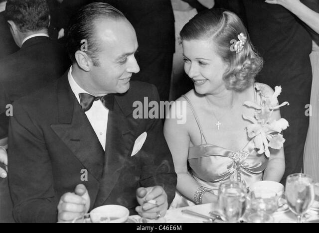 Charles Boyer und Joan Bennett, 1938 Stockbild