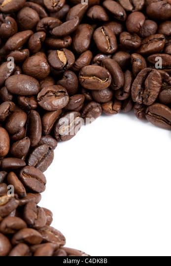 Kaffeebohne für Hintergrund Stockbild