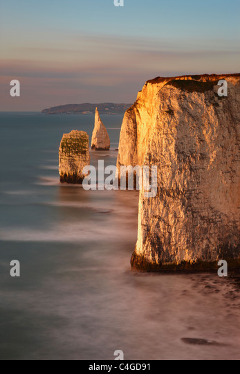 Old Harry Rocks, Handfast Punkt Studland, Jurassic Coast, Dorset, England Stockbild