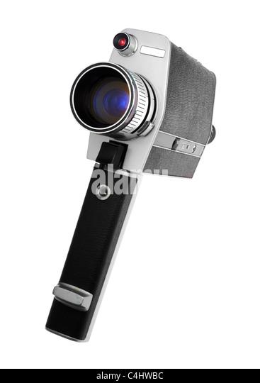 Ein Vintage Super 8-Kamera verwendet für Heimvideos Stockbild