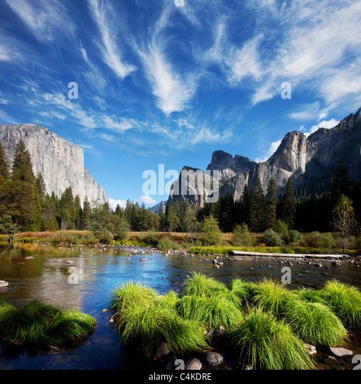 Yosemite Valley Landschaften Stockbild