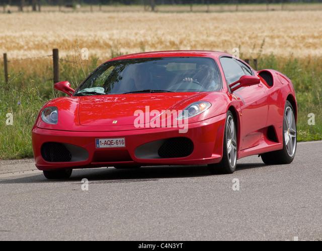 Roter Ferrari F430 Sportwagen Stockbild