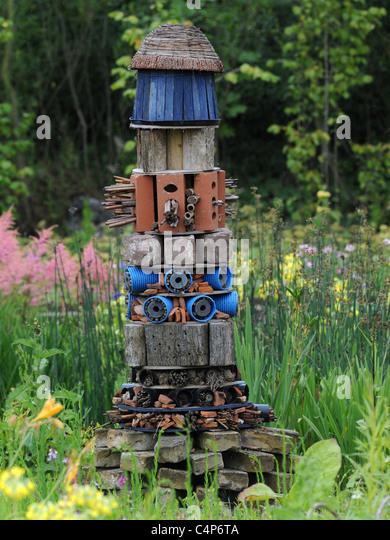 Ein Bio Insekt, Heimat für Nützlinge. Stockbild