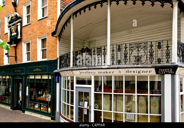 Royal Tunbridge Wells, Pantiles - eine touristische Attraktion Stockbild
