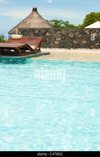 Resort-Schwimmbad Stockbild