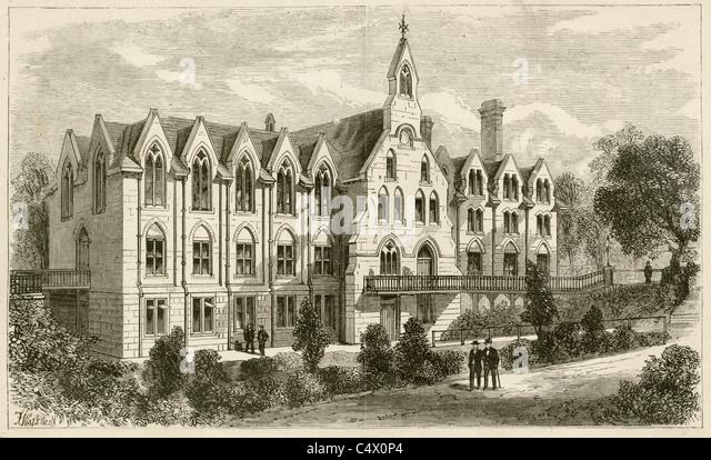"""Ca. 1900 Gravur, """"Royal Normal College und Academy of Music für Blinde, Upper Norwood."""" Stockbild"""
