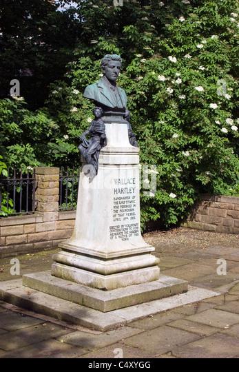 Denkmal für Wallace Hartley, der Kapellmeister auf der Titanic in Colne, Lancashire Stockbild