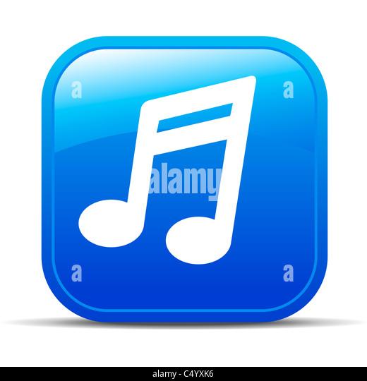 Musik-Internet-Button Icon Stockbild