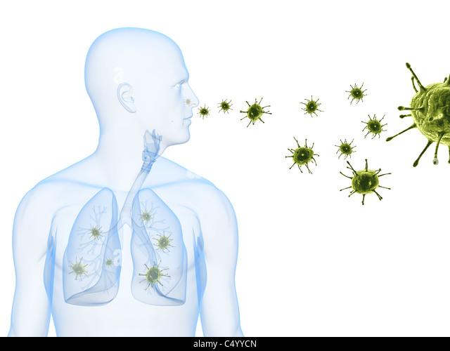 Virus-Infektion Stockbild