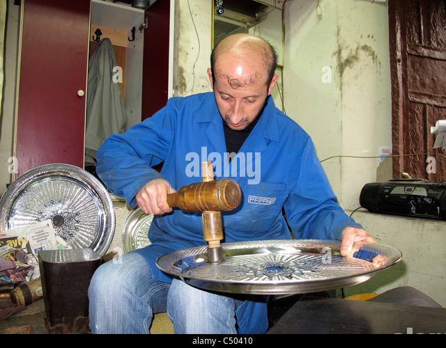 Türkei Istanbul türkische Silber Software-Herstellung Stockbild