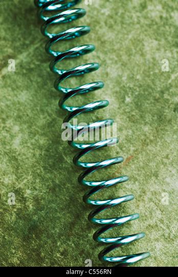 Nahaufnahme von einer Spiralfeder Stockbild