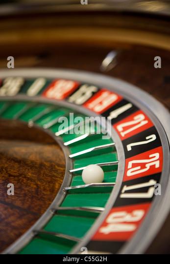 Roulette-Tisch-Nahaufnahme Stockbild