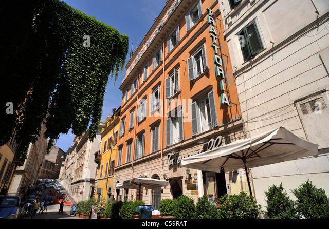 Italien, Rom, Monti Viertel via Panisperna, Trattoria Stockbild