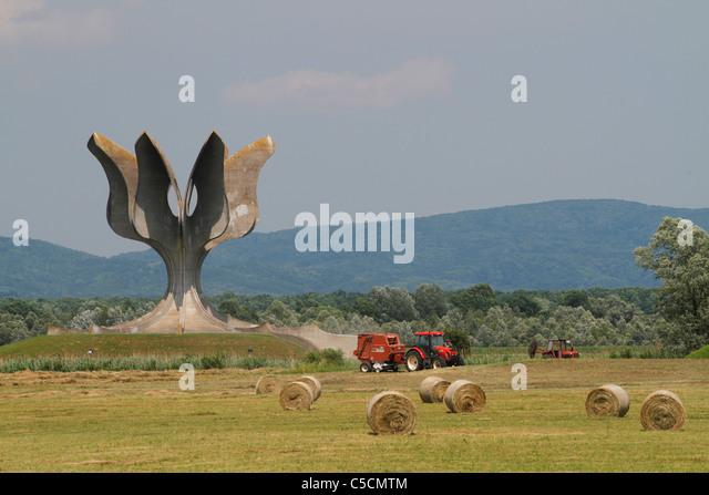 Jasenovac Konzentration Lager-Denkmal, Jasenovac, Kroatien Stockbild