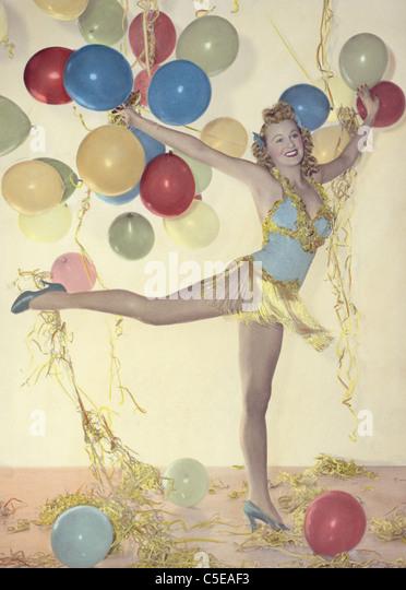 Party-girl Stockbild