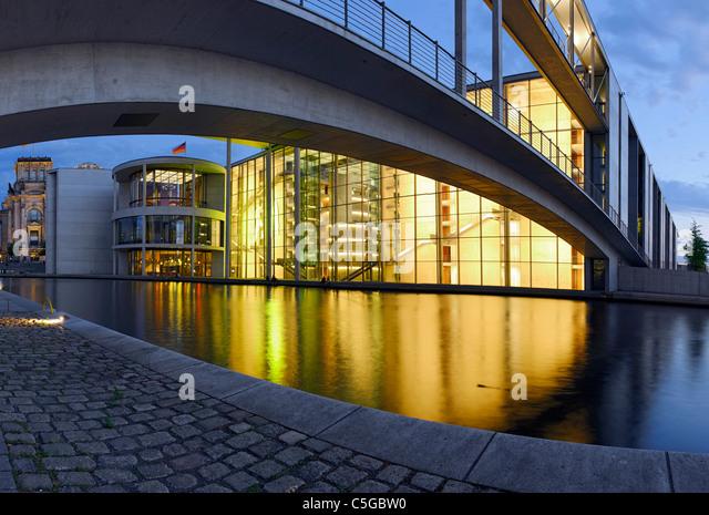 Paul-Loebe-Haus bauen, Parlament von Deutschland und der Reichstag, Regierungsviertel Bezirk, Berlin, Deutschland, Stockbild