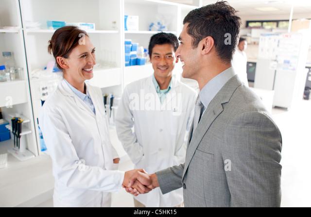Kommerzialisierung der wissenschaftlichen Forschung Stockbild