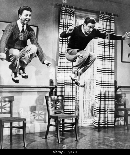 Gene Kelly und Donald O'connor, das Tanzen Stockbild