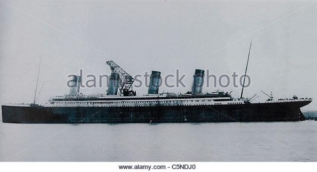 Europa, Nord-Irland, Belfast, historisches Bild von der titanic Stockbild