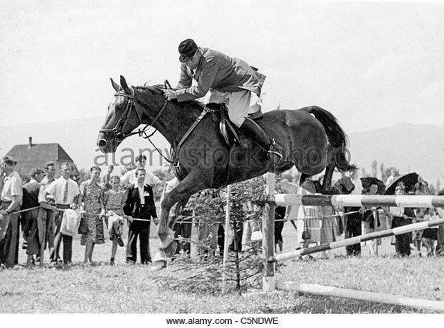 Pferderennen 50er Jahre 60er Jahre Stockbild